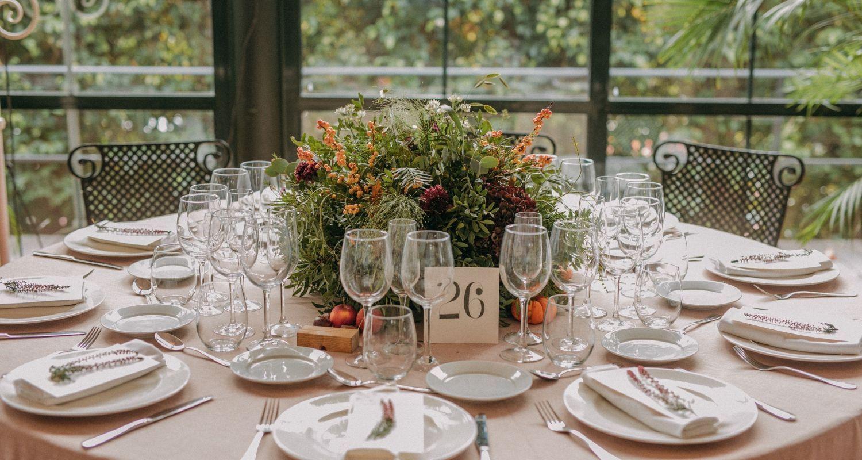 centro de mesa otoño